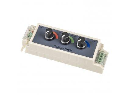Ruční stmívač RGB-M1 jednokanálový manuální ovladač pro barevné LED pásky
