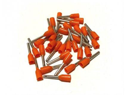 Lisovací dotinka 0,5mm na dvojlinky RGB a CCT vodiče oranžová