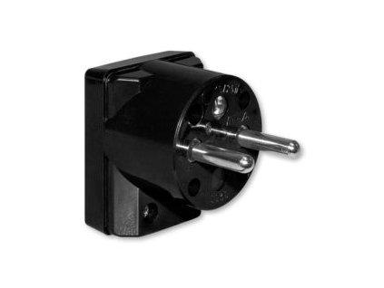 Vidlice do zásuvky ABB černá s bočním připojením