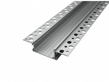 Hliníkový profil vestavný RC8 chladící ALU zapuštěná ALU  lišta pro LED pásek s mléčným nebo čirým krytem difuzorem. TopLux Praha skladem