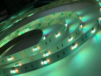 LED pásek RGB+CCT samolepící vnitřní, Vvysoká svítivost 72 LED/metr, cena je za 1 m 24V LED pásek je novinkou spojení RGB a jedné barvy na jednom pásku