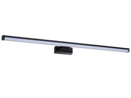 Černé koupelnové světlo nad zrcadloASTEN IP44 15W NW B Kanlux tmavé antracid