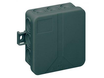 černá montážní rozvodná krabice IP55 s průchodkama voděodolná antracitová izolovaná krabička