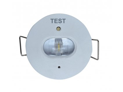 Nouzové protipanické LED osvětlení 1W do sádrokartonu SDK s průměrem 40mm, zdroj a baterie je součástí balení, výdrž 3hodiny, určeno na chodby a uličky