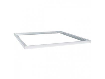 Hliníkový stříbrný rám 60x60 600x600 pro LED panel Montážní sada pro přisazení připevnění svítidla k pevnému stropu rámeček  stříbrné barvy 595mm