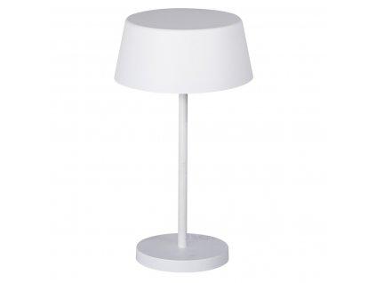 RETRO Daibo bílá stolní lampička se stínítkem kloboukem na stůl noční stolek