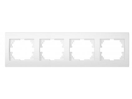 LOGI Čtyřnásobný horizontální rámeček - bílá