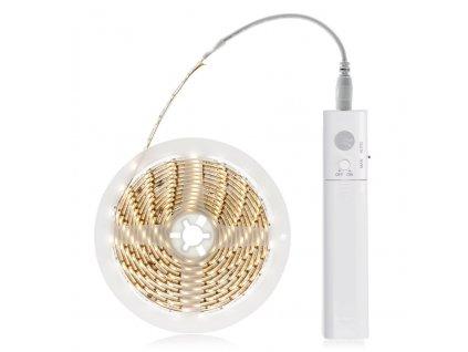 LED pás s pohybovým senzorem. Světelný sensor reaguje na pohyb ve tmě. Ideální pro použití k podsvícení postele - jako noční světélko do skříní nebo WC