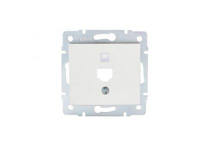 DOMO Adaptér datové zásuvky 1xRJ45 - bílý