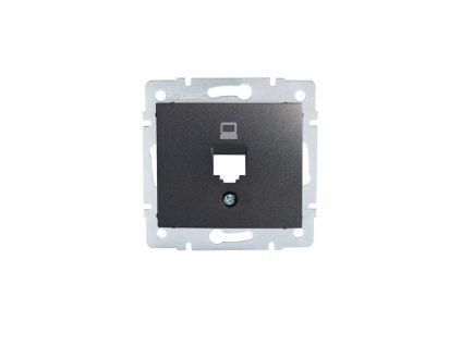 DOMO Adaptér datové zásuvky 1xRJ45 - grafit