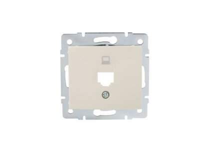 DOMO Adaptér datové zásuvky 1xRJ45 - krémový