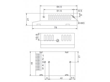 LED trafo zdroj 12V 12W vnitřní pro LED pásky stříbrné TopLux Osvětlení Praha skladem na prodejně nízká cena kvalita