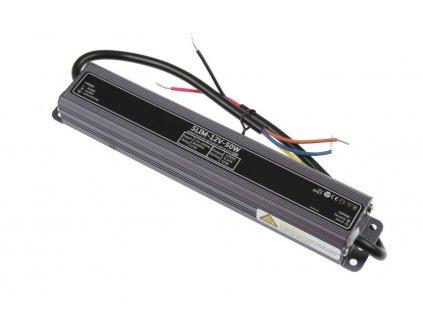 LED trafo zdroj 12V 50W IP67 vodotěsné venkovní pro LED pásky stříbrné TopLux Osvětlení Praha skladem na prodejně nízká cena kvalita ihned