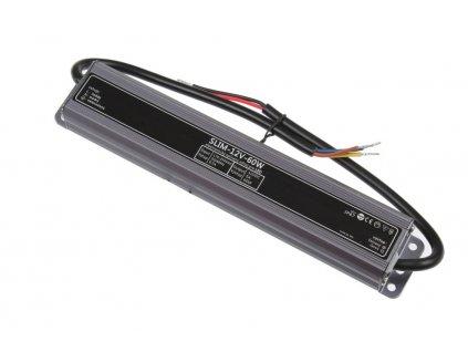 LED napájecí zdroj 12V 60W pro LED pásky - voděodolné trafo 5A IP67 056092