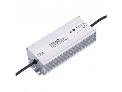 LED trafo zdroj 12V 120W IP67 vodotěsné venkovní pro LED pásky stříbrné TopLux Osvětlení Praha skladem na prodejně nízká cena kvalita ihned