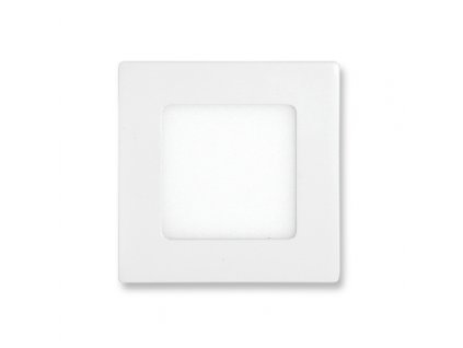 LED panel 6 W, krytí IP20 - pro vnitřní prostředí, rozměry120 x 120 mm, montážní otvor 105 x 105 mm, svítivost 440 lm, 4 100 K, barva světla neutrální bílá, čtvercové svítidlo vestavné, materiál hliník/plast, barva rámu BÍLÁ standard, včetně pružin a trafa