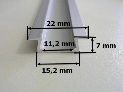 Hliníkový profil vestavný V4 chladící lišta pro LED pásek standartní levná s krytem difuzorem rozměry TopLux Osvětlení Praha skladem