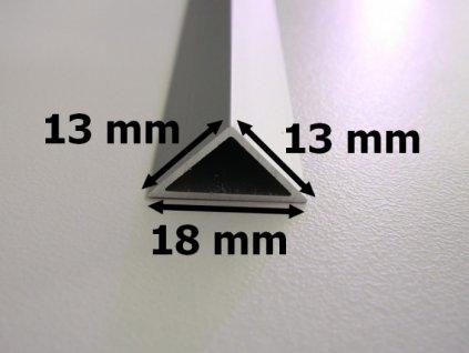 Hliníkový profil rohový trojúhelník chladící lišta pro LED pásek standartní levná s krytem difuzorem úchyty nastavitelné rozměry TopLux Osvětlení Praha skladem