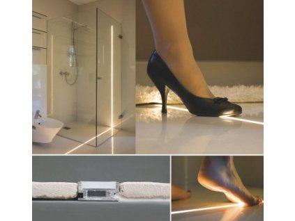 Hliníkový zátěžový podlahový chladící lišta pro LED pásek standartní levná s krytem difuzorem TopLux Osvětlení Praha skladem