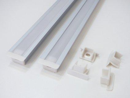 Koncovka hliníkového profilu vestavného pro LED pásek