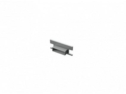 Koncovka hliníkového vestavného profilu FLOOR nášlapného / podlahového pro LED pásek - plná TopLux Osvětlení Praha, Sokolovská, Libeň - skladem na prodejně za nízké ceny, akce, slevy a levné zboží