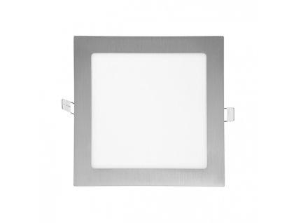 LED panel Ecolite RAFA 12W chrom čtverec vestavný neutrální bílá LED-WSQ-12W/41/CHR