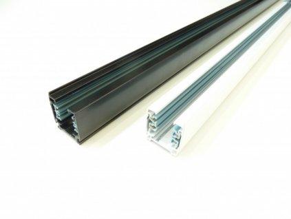 Třífázová napájecí lišta pro TRACK LIGHT LED svítidla  Barva bílá/černá, délky 100cm  Standartní běžný rozměr a provedení