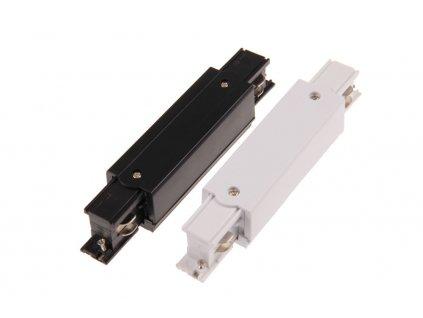 Spojka rovná dlouhá třífázová pro lištový systém bílé nebo černé barvy, kolejnicová spojka s možností připojení napájecího kabelu. Průběžný napájecí prvek TRACK LIGHT. TopLux Osvětlení Praha skladem na prodejně ihned