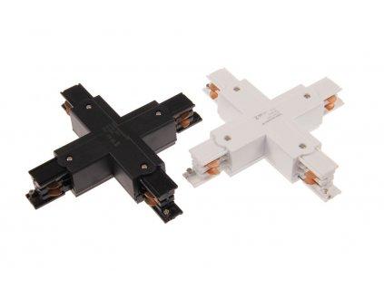 Napájecí rozbočná spojka X 3F lišty TRACK Light bílá/černá přípojka pro třífázovou kolejnici