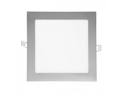 LED panel 18 W, krytí IP20 - pro vnitřní prostředí, rozměry 225 x 225 mm, montážní otvor 205 x 205 mm, svítivost 1 550 lm, 4 100 K, barva světla neutrální bílá, čtvercové svítidlo vestavné, materiál hliník/plast, barva rámu CHROM lesklý, včetně pružin a trafa