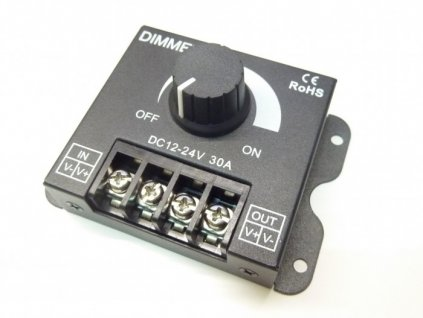 LED ovladač stmívač pro jednobarevný LED pásek. Osvětlení Praha TopLux skladem