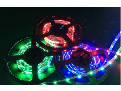 RGB LED pásek 12V 7,2W/m, střední svítivost, IP20 vnitřní