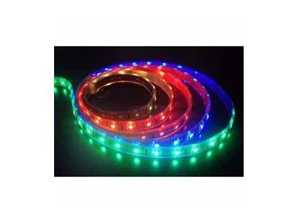RGB LED pásek 12V 14,4W/m, vysoká svítivost, IP20 vnitřní