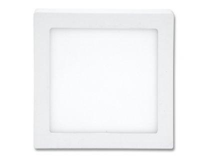 LED panel 18 W, krytí IP20 - pro vnitřní prostředí, rozměry22,5 x 22,5 x 3 cm, svítivost 1 550 lm, 4 100 K, barva světla neutrální bílá, čtvercové svítidlo přisazené, materiál hliník/plast, barva rámu BÍLÁ standard, včetně pružin a trafa