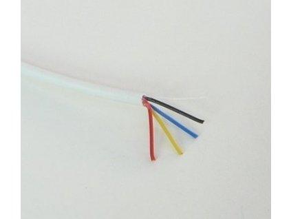 RGB kabel kulatý 4x0,2mm Doporučené max. napětí 50V Max. zatížení 12V 72W, 24V 144W