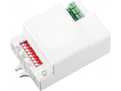 Pohybový senzor GREENLUX HF 70 GXHF010 Pohybové mikrovlnné / radarové čidlo HF, VF na 230V Nastavení - času, detekce pohybu, citlivosti na světlo Detekce až 10m a 180 x 360° Stupeň krytí - IP20 vnitřní použití Senzor HF snímá pohyb i přes lehké stavební materiál, např. sádrokarton, dřevo, sklo atd... reaguje na každý pohyb ve svém okolí. Tento senzor lze umístit např. pod sádrokartén, minerální rastrový podhled, dřevěné desky apd... Senzor nereaguje na neživé předměty oproti PIR čidlu. Akční cena 329,- s DPH TopLux Osvětení Praha, Libeň, Sokolovská - skladem na prodejně za nízké ceny