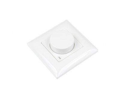 LED dálkový ovladač jednokanálový OV KN1K, dálkové radiofrekvenční ovládání, nový design a funkce, dosah ovladače až 30 m, rozměry 50 x 50 x 12 mm
