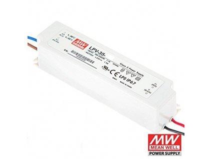 LED zdroj MeanWell 36W 230V 12V trafo pro LED pásky a moduly