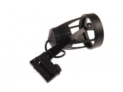 Třífázové lištové svítidlo TRACK LIGHT 3F - pro LED žárovku PAR30 E27 230V černé 105601. TopLux Praha skladem