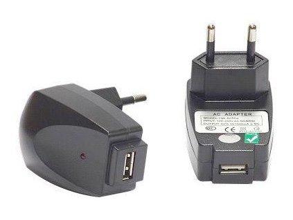 LED napájecí zdroj 5V zásuvkové Trafo vnitřní použití pro lampičky mobil tabllet, USB výstup bez kabelu bílý transformátor nejlevnější v akci skladem Praha
