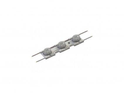 LED modul DXS-3 12V/2,8W s AL chladičem a optikou 15x55° 6500K studená bílá pro světelné reklamy