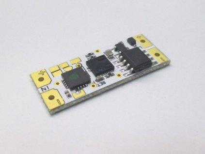 LED bezdotykový ovladač stmívač 3v1 jednobarevných LED pásků pájecí do profilu lišty ovládání mívnutím před senzorem skříňové a soumrakové spínání