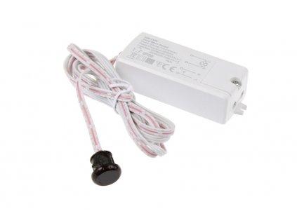 LED bezdotykový spínač s IR senzorem 06718 EAN: 1100687981216 Slouží k zapnutí a vypnutí jakéhokoliv světelného či jiného zařízení s provozním napětím 220 – 240V. Vhodné jako nábytkový, dveřní, nebo senzor na mávnutí. Akce 219Kč - sleva TopLux Osvětlení Praha