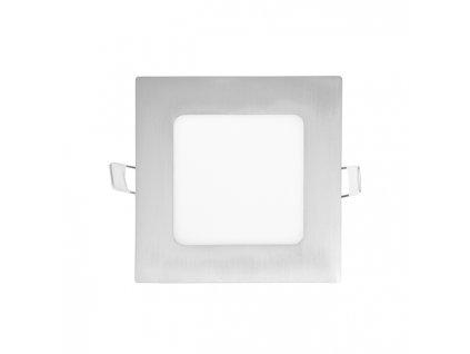 LED panel Ecolite RAFA 6W chrom čtverec vestavný neutrální bílá LED-WSQ-6W/41/CHR