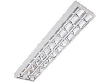 LED kancelarske stropní  svetlo pro LED zarivky prisazene 2x120cm 2x20W s mrizkou klasicke pro úsporné LED zářivky TopLux Osvětlení Praha velký výběr nízké ceny skladem foto