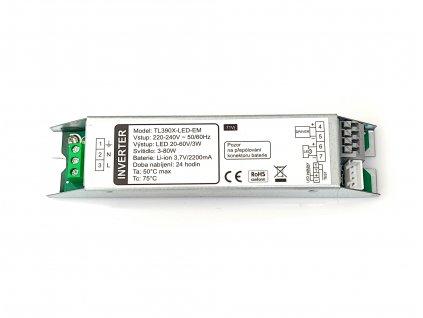 LED nouzový záložní zdroj pro prachotěsy vestavný nouzový modul 3 až 56W velký rozsah pro stropní světla