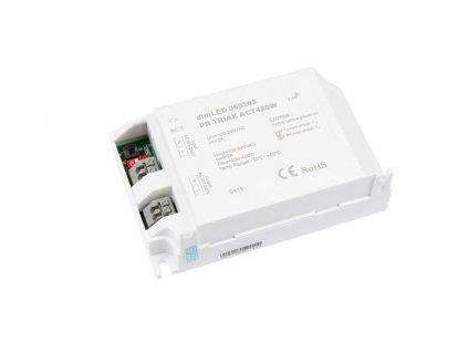 Dálkový triakový stmívač pro LED svítidla 230 V, RF přijímač stmívač LED 2 A 100-240 V AC, maximální zatížení 480 W, pro dálkové ovladače dimLED, paměť posledního nastavení, rozměry 103 x 67 x 30 mm, dosah až 30 m