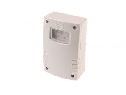 Soumrakový spínač SS-T1 s fotočlánkem na 230V zapne nebo vypne automaticky osvětlení podle úrovně intenzity světla. Vypnutí se může nastavit také časovačem. V případě vypnutí časovače se spínač spíná pouze dle nastavení úrovně intenzity světla LUX nad úroveň nastavené citlivosti.  Spínač se používá pro spínání osvětlení za soumraku a v noci (pouliční a zahradní osvětlení, osvětlení reklam, výloh atd...).