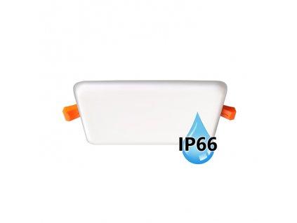 Koupelnový vestavný hranatý LED panel 6W do podhledu/sádrokartonu, rozměry 75x75 mm, montážní otvor s průměrem 55 mm, barva BÍLÁ standard, barva světla denní 4000 K, včetně pružin a trafa