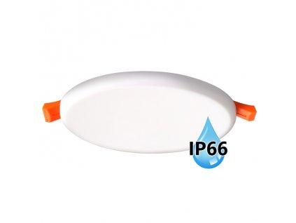 Koupelnový vestavný kulatý LED panel 22W do podhledu/sádrokartonu, průměr 185 mm, montážní otvor s průměrem 165 mm, barva BÍLÁ standard, barva světla denní 4000 K, včetně pružin a trafa